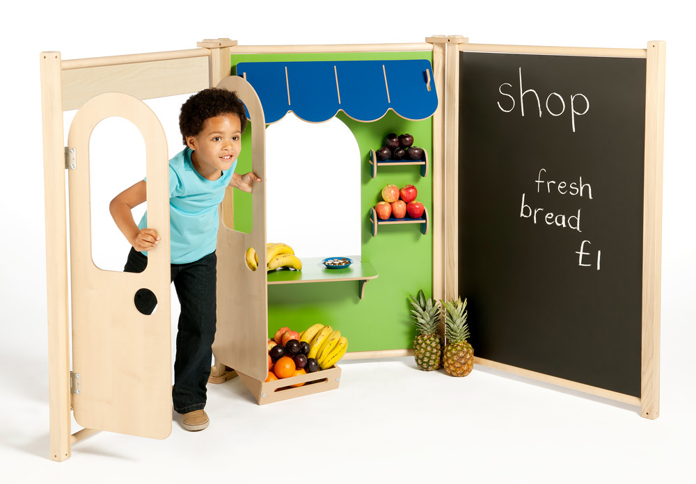 Childrens Role Play Panels Blackboard