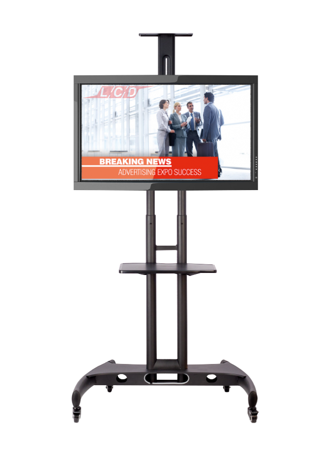 School Mobile TV and Monitor Stand on Wheels