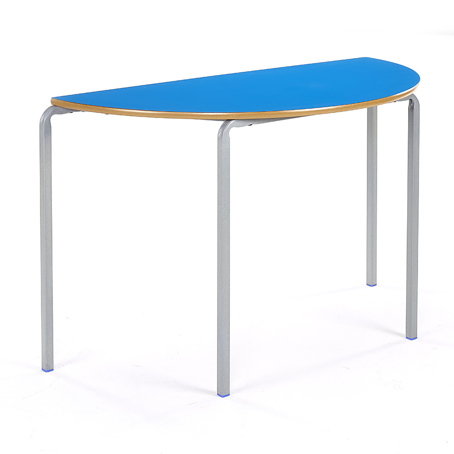 Crush Bent Stacking Classroom Table Semi-Circular Pack of 3