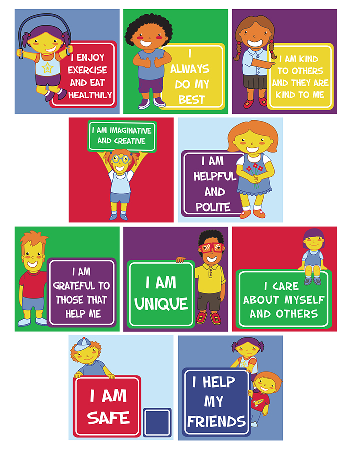 Positive Affirmations Educational Rugs