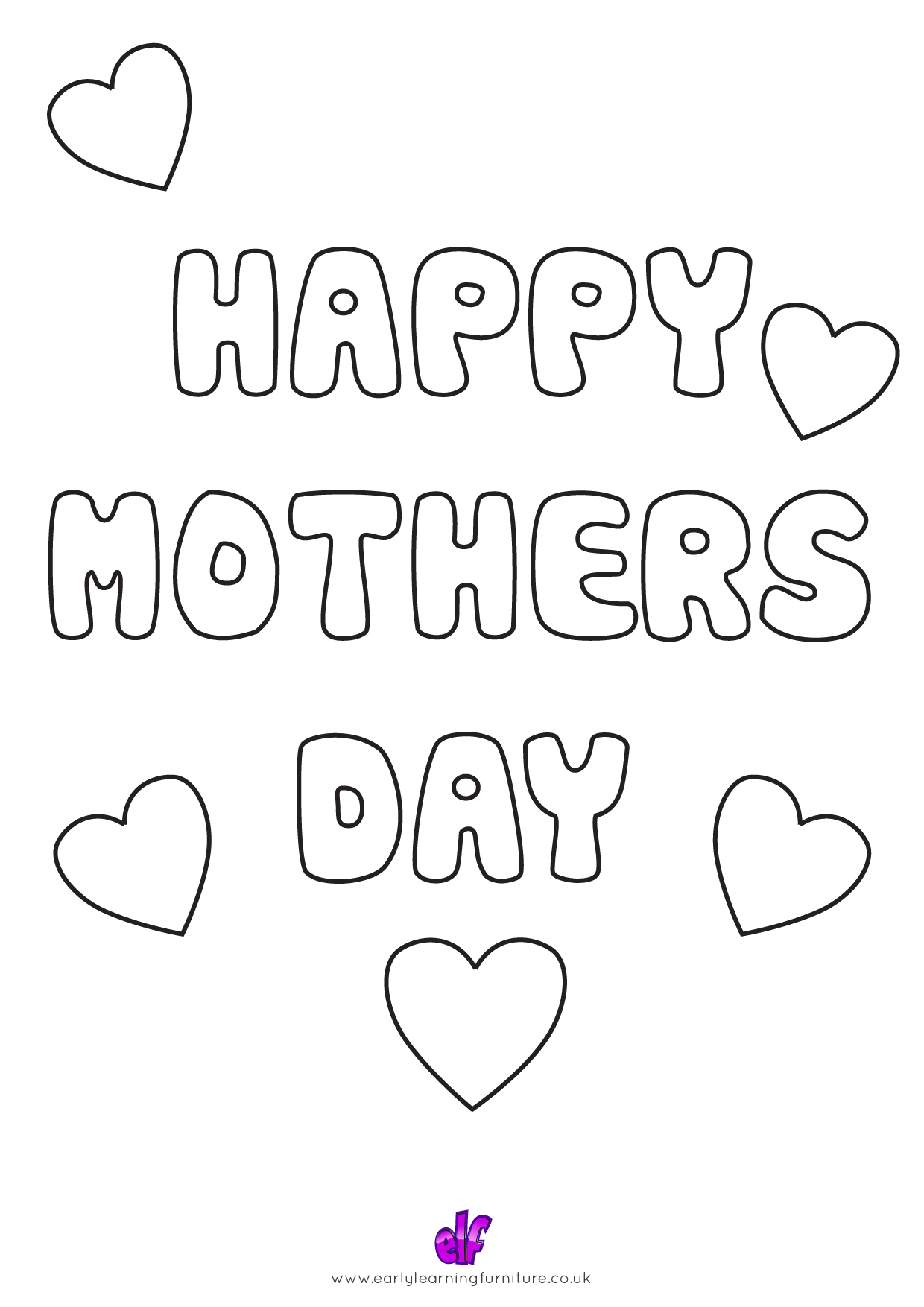 Free Teaching Resources Mothers Day- Happy Mothers Day Colour In