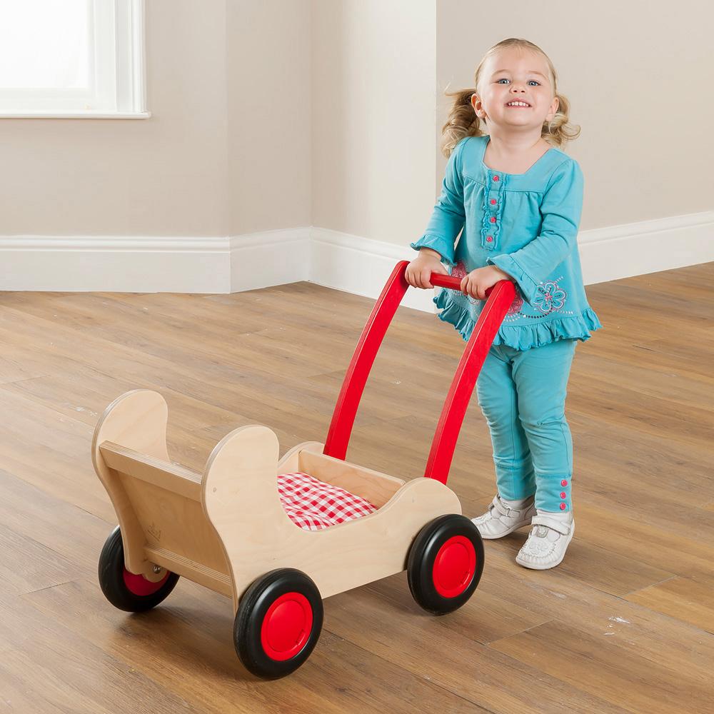 Childrens Wooden Pram Cart