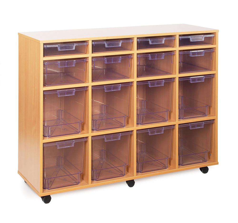 Crystal Clear Classroom Tray Storage Variety Tray