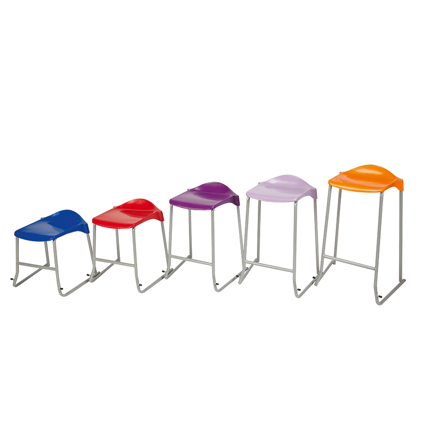 WSM Skidbase Classroom Stool Pack of 6