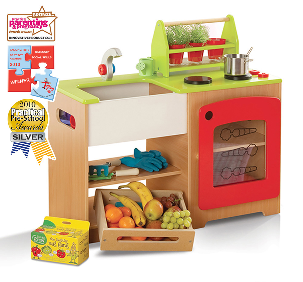 Healthy Eating Kitchen and Market Stall Play Set