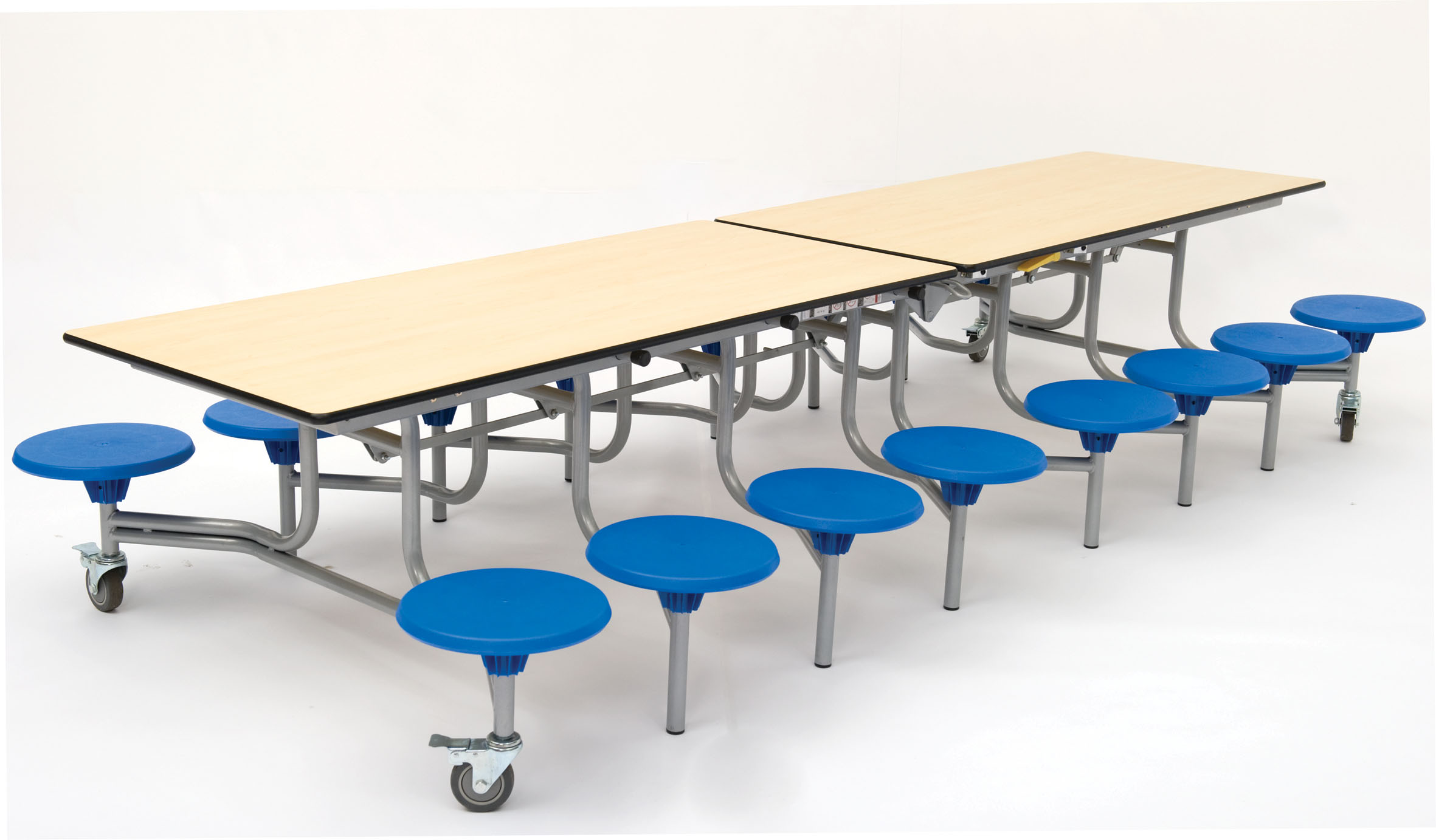 Rectangular Mobile Folding Table Seating Unit Early