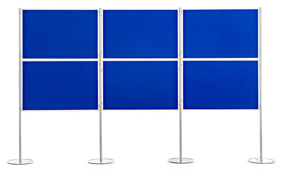 Aluminium Frame 6 Panel and Pole School Display Board