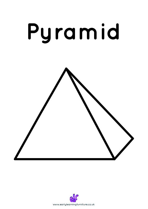 Free Teaching Resources Shapes- Pyramid