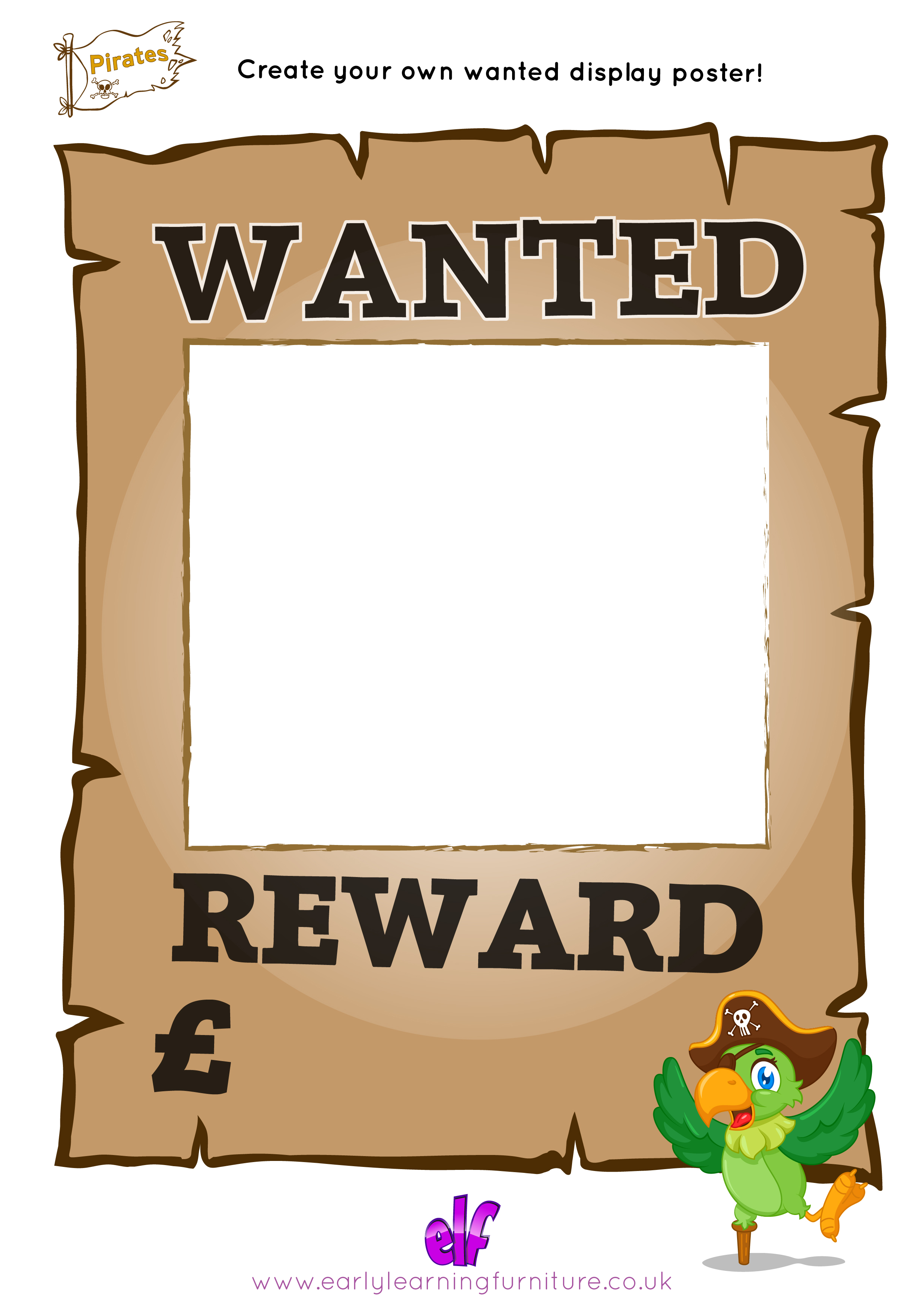 Free Teaching Resources Pirate Themed- Wanted Poster