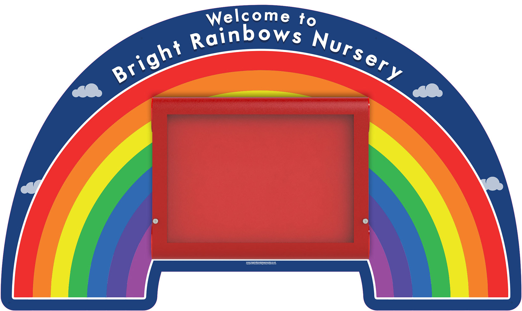 Nursery Welcome Sign Rainbow