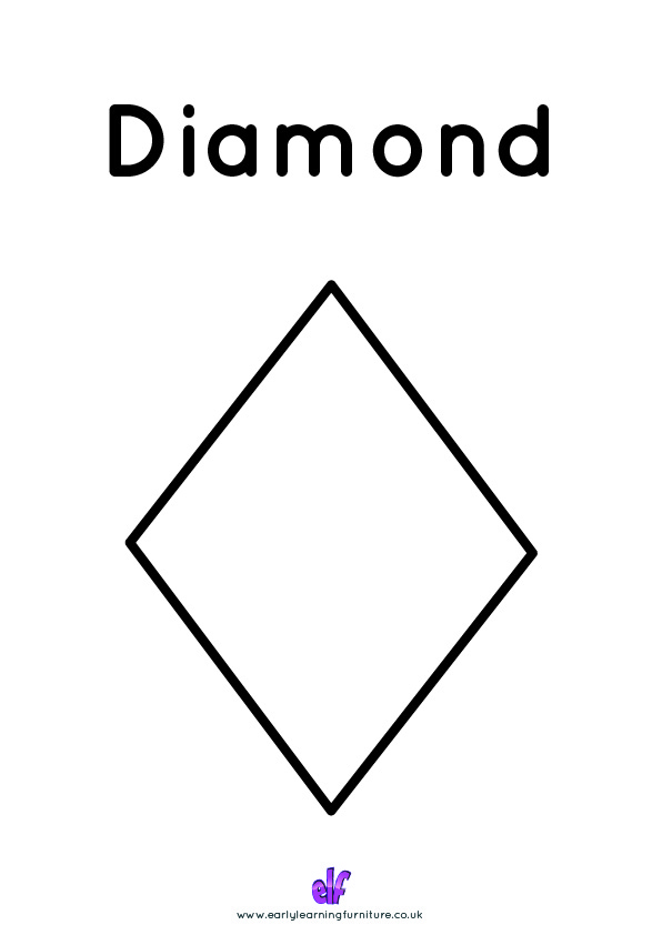 Free Teaching Resources Shapes- Diamond