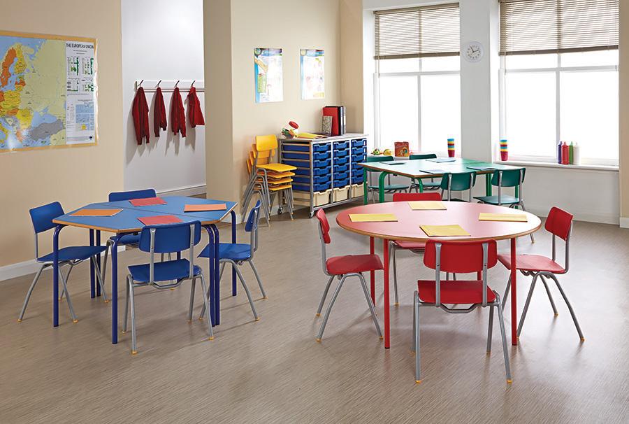 Circular Nursery Table Pack of 2