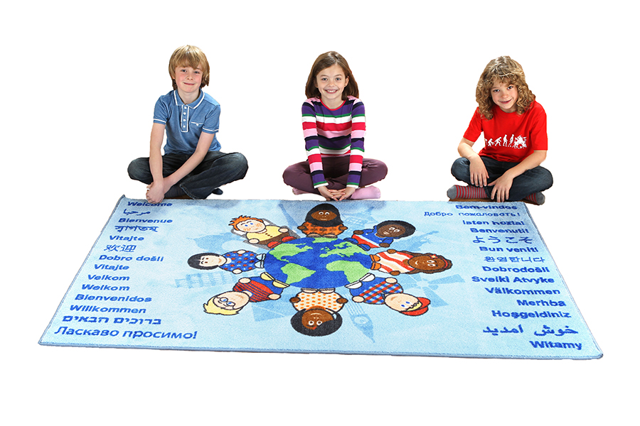 Children of The World Welcome Educational Rug