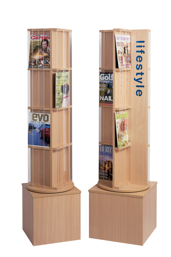 Magazine Display Spinner with Graphics