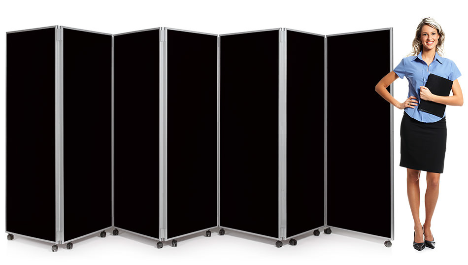 7 Panel Concertina Screen Classroom Dividers