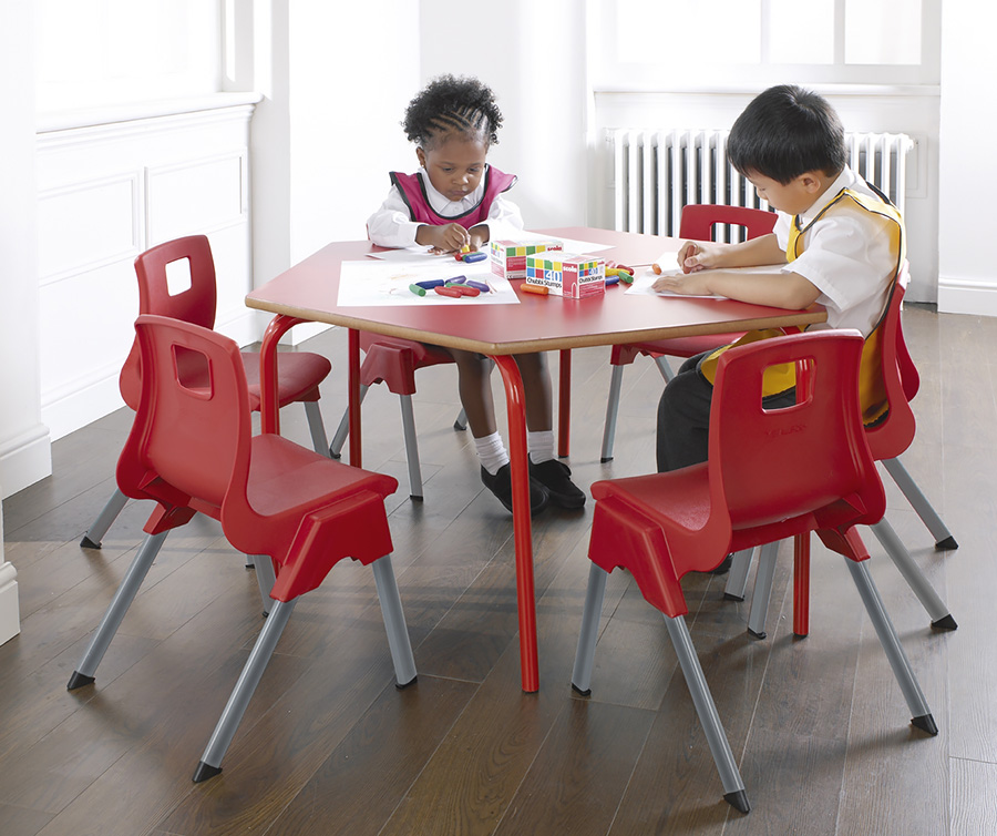 Trapezoidal Nursery Table Pack of 3