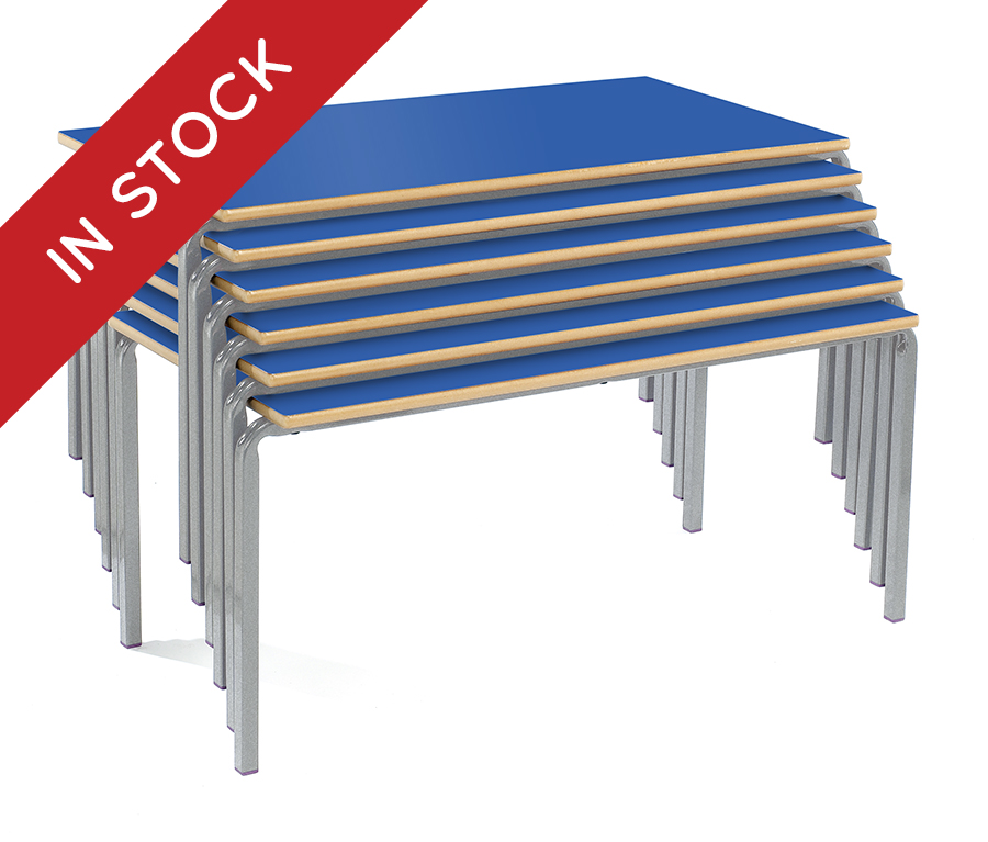 In Stock Crush Bent Stacking School Desks Pack of 4