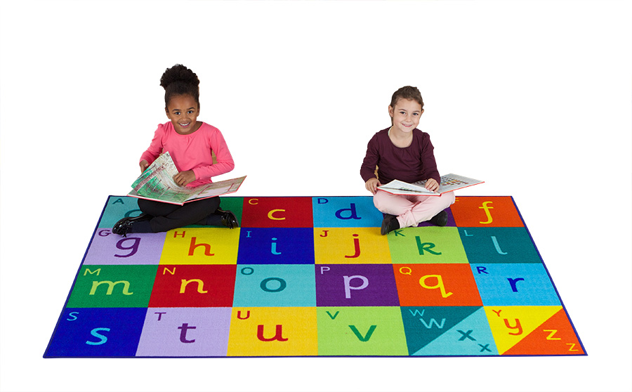 Rainbow Rectangular Alphabet Mat