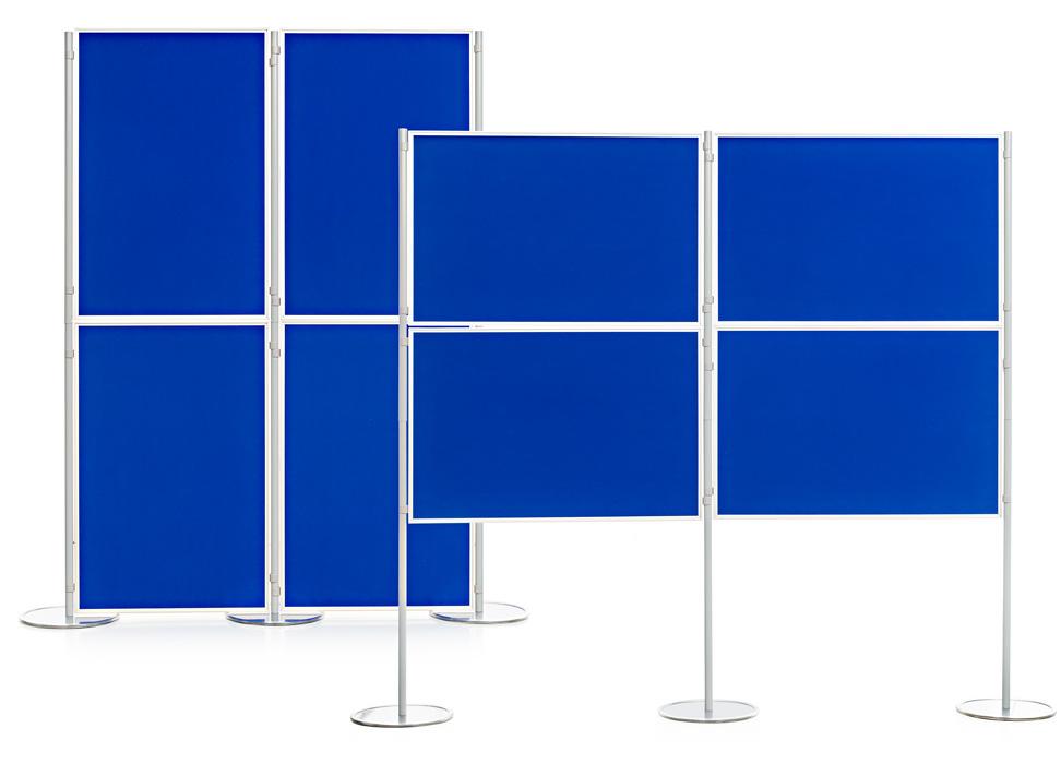 Aluminium Frame 4 Panel and Pole School Display Board