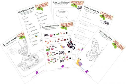 Minibeast Words Coloring Pages English/Italian - Minibeast Words ... | 327x490
