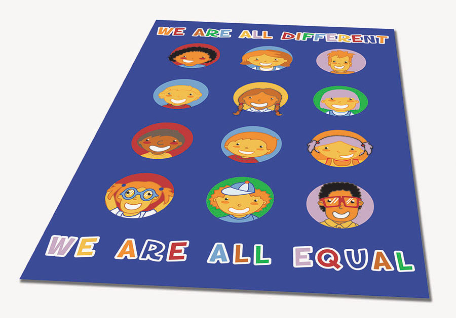 We Are All Equal Educational Rugs