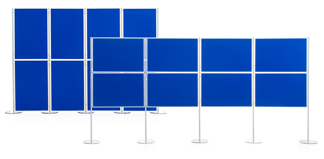 Aluminium Frame 8 Panel and Pole School Display Board