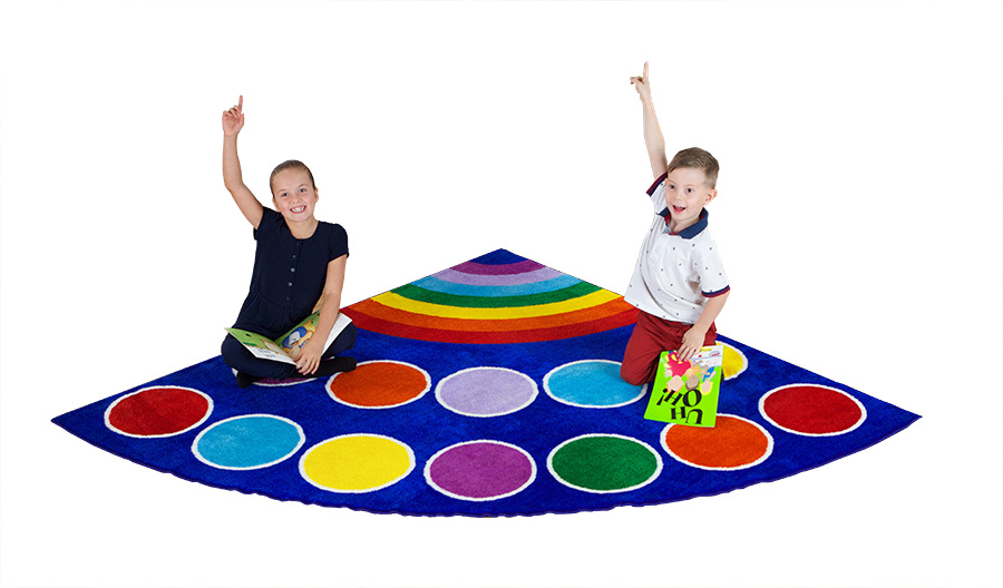 Rainbow Placement Corner Classroom Rugs