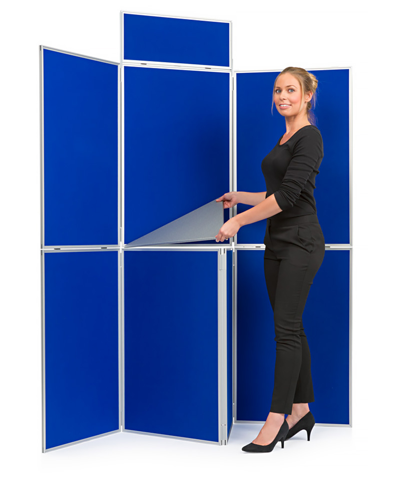 7 Panel Folding School Display Board