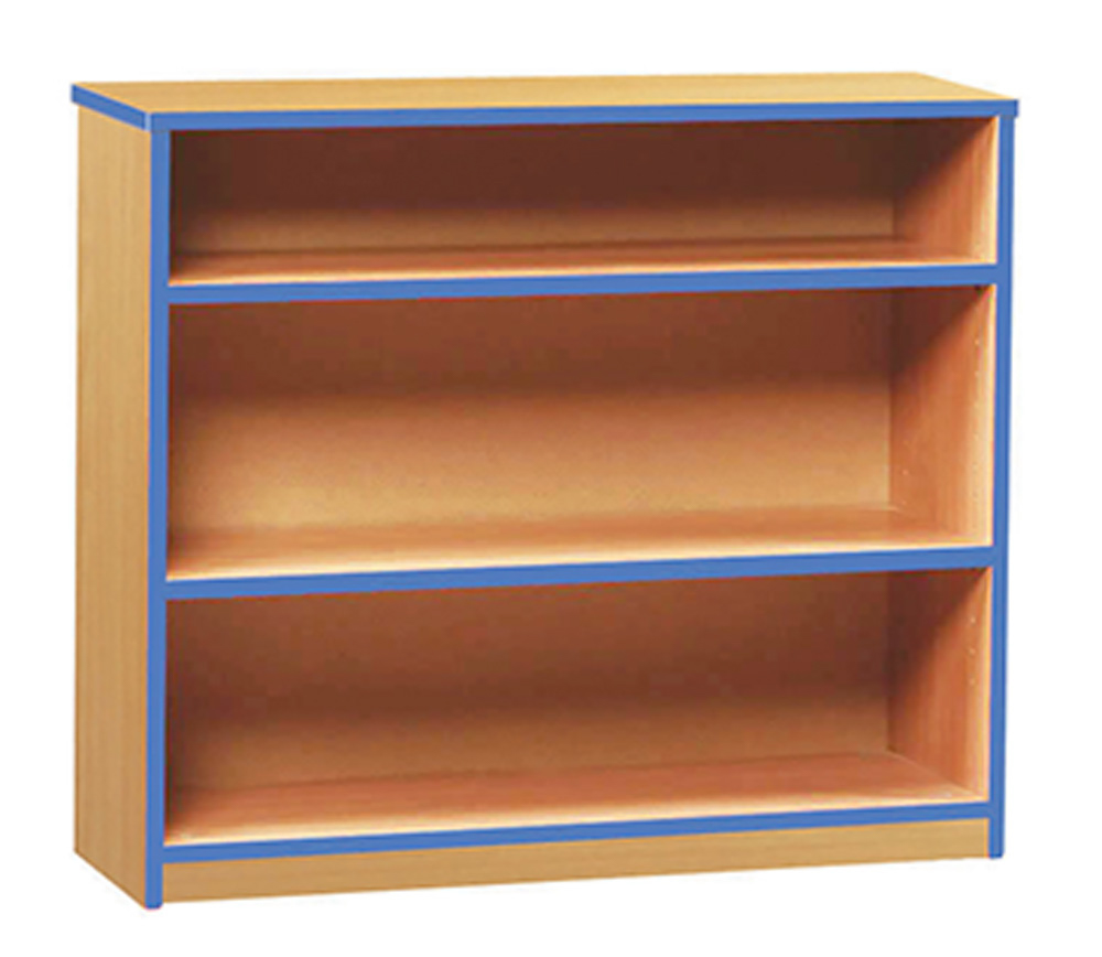 Coloured Edge School Bookcase