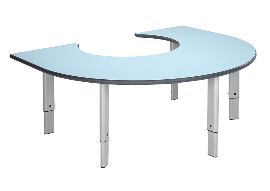 Height Adjustable Classroom Rainbow Table
