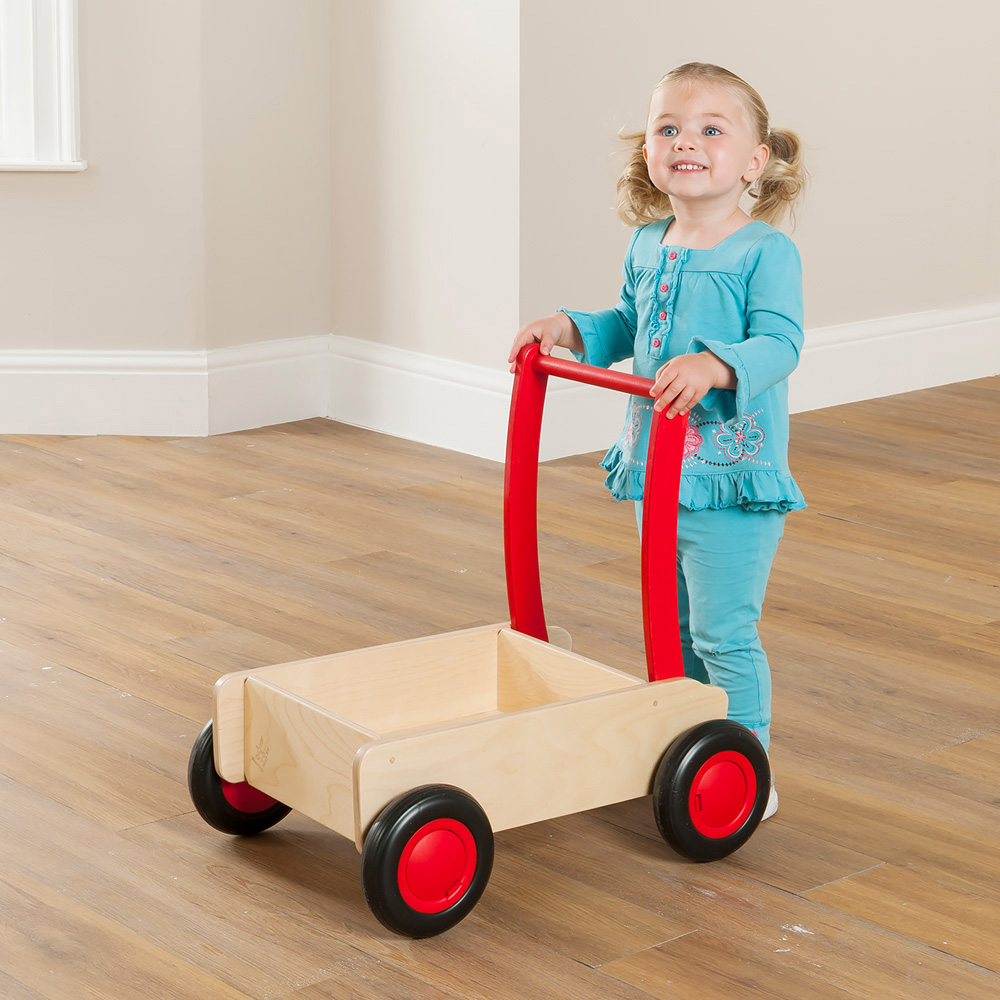 Childrens Wooden Push Cart