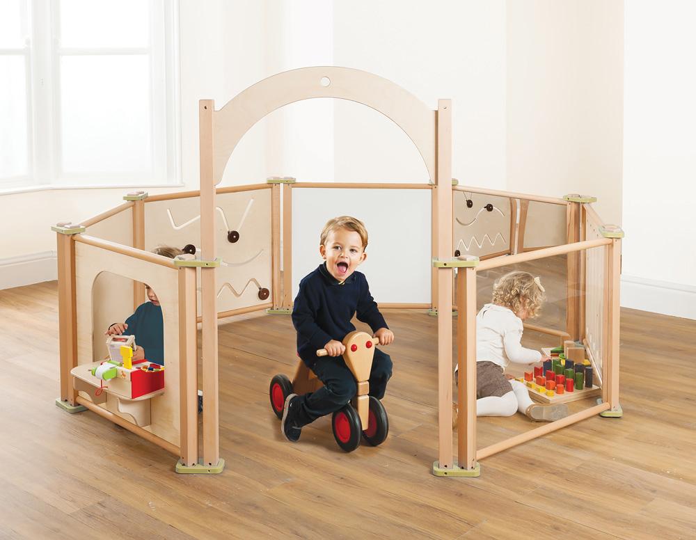 Toddler Playpen Panel Mirror