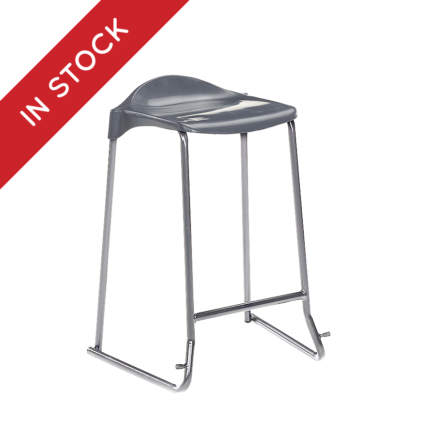 In Stock WSM Skidbase Classroom Stool in Charcoal Pack of 6