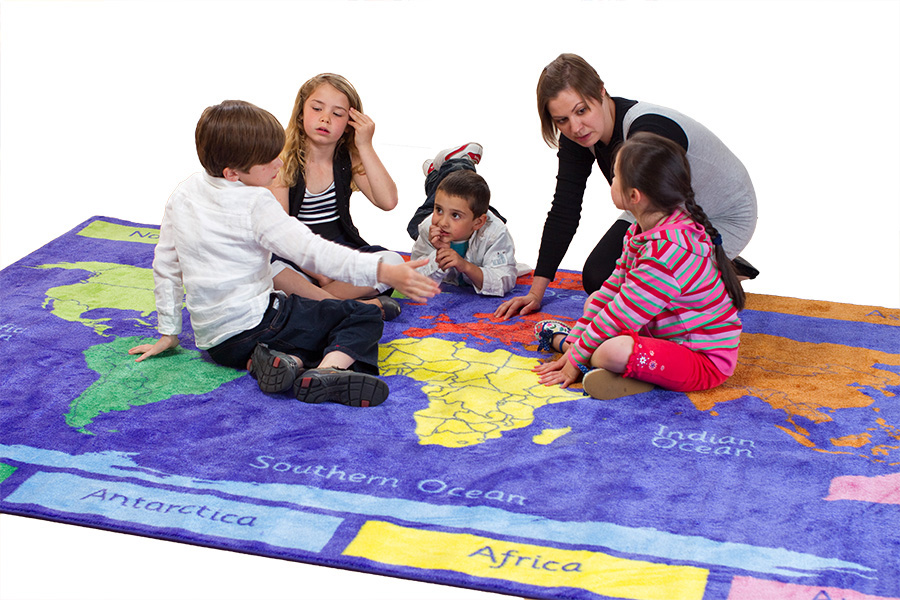 Primary World Explorer Educational Rugs