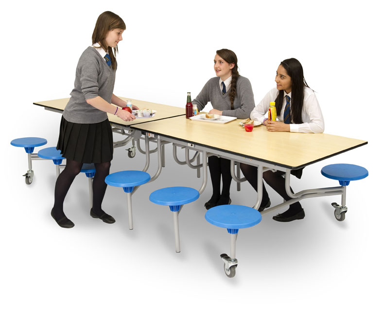 Rectangular Mobile Folding Table Seating Unit