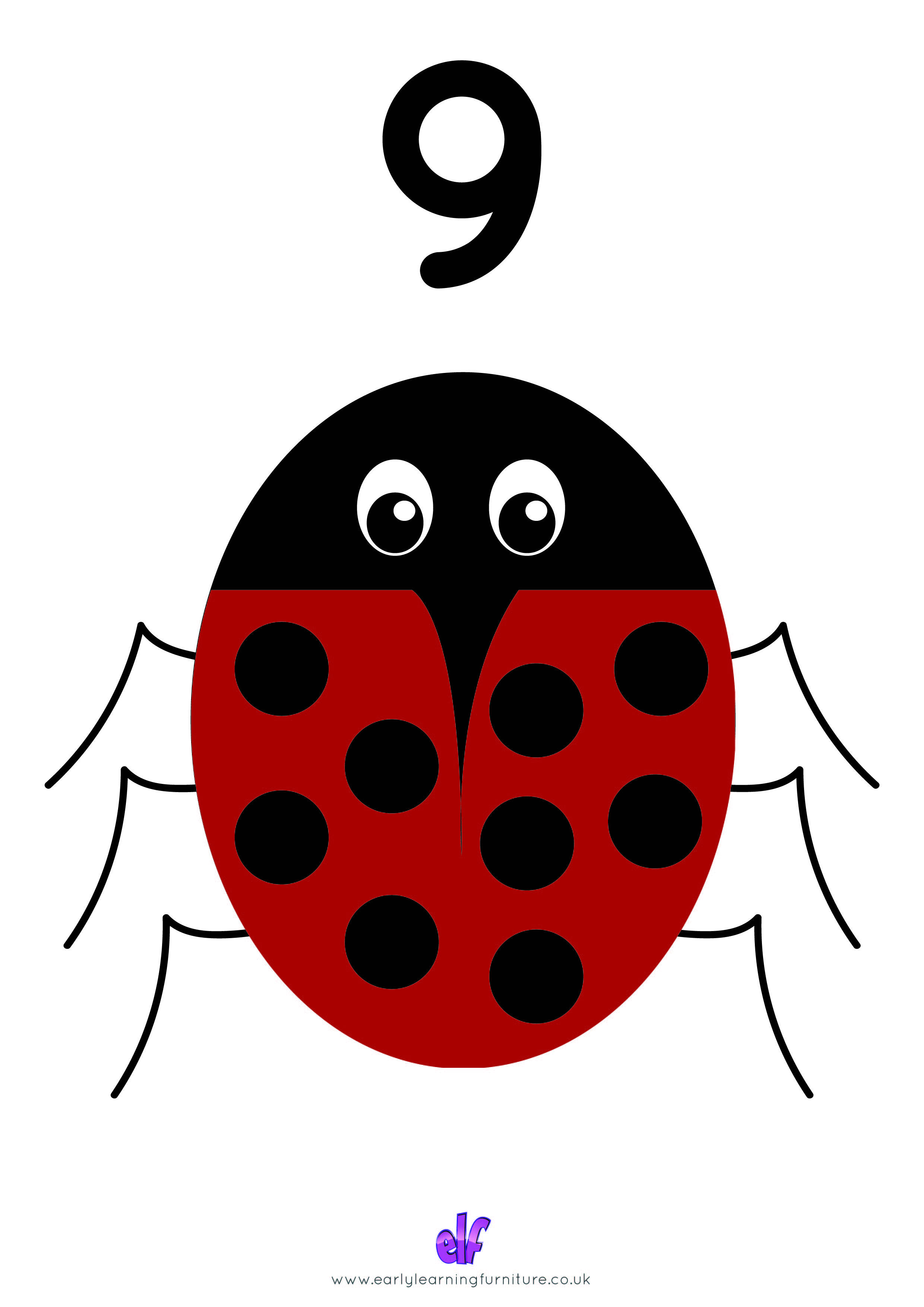 Free Teaching Resources Numbers- Bug Number 9