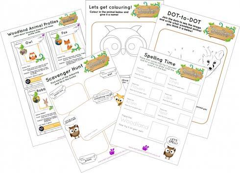 Woodlands Printable Worksheets