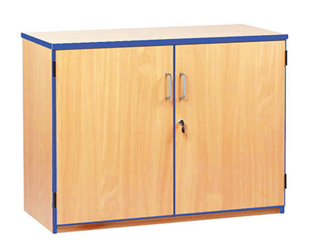 Coloured Edge School Storage Cupboards