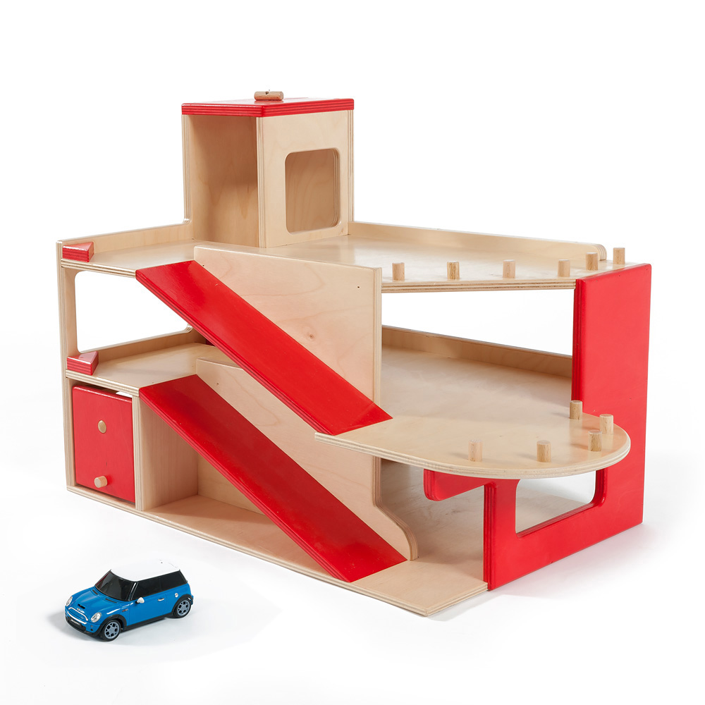 Wooden Play Garage
