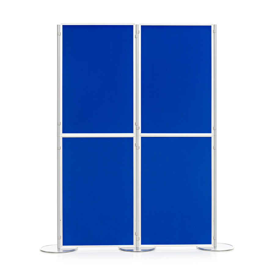 Aluminium Frame 4 Panel and Pole School Display Board