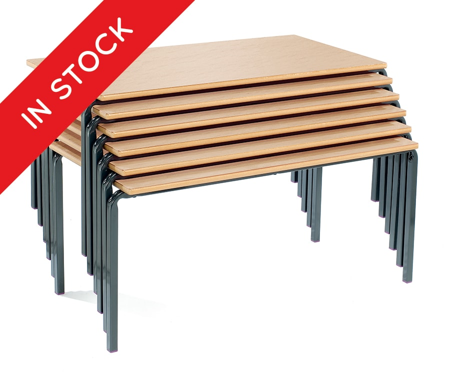 In Stock Crush Bent Stacking School Desks Pack of 4