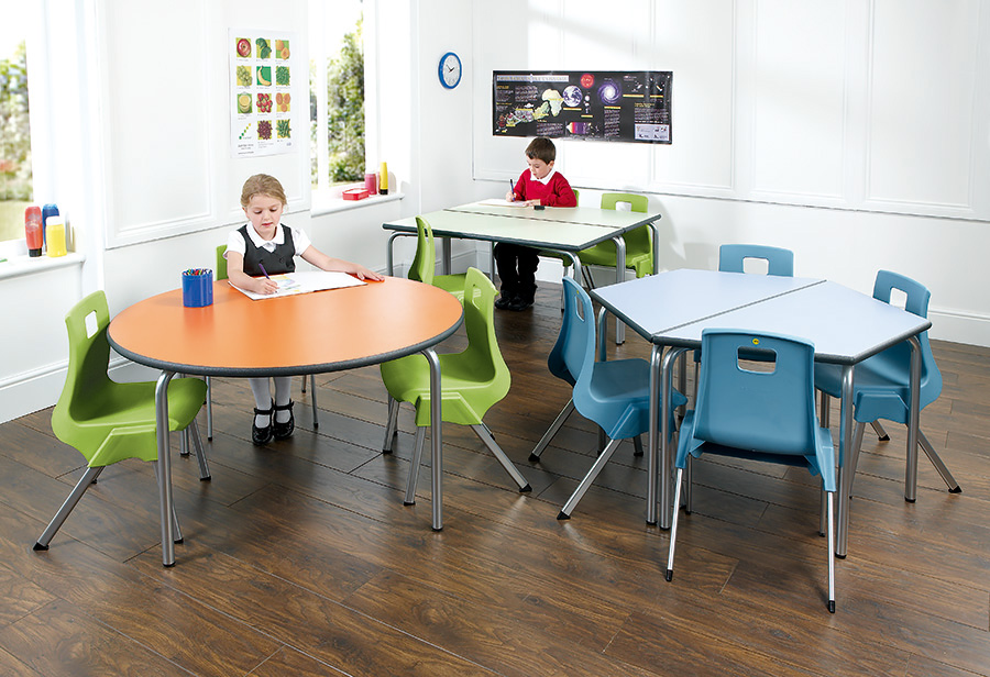 Equation Trapezoidal Classroom Table Pack of 2