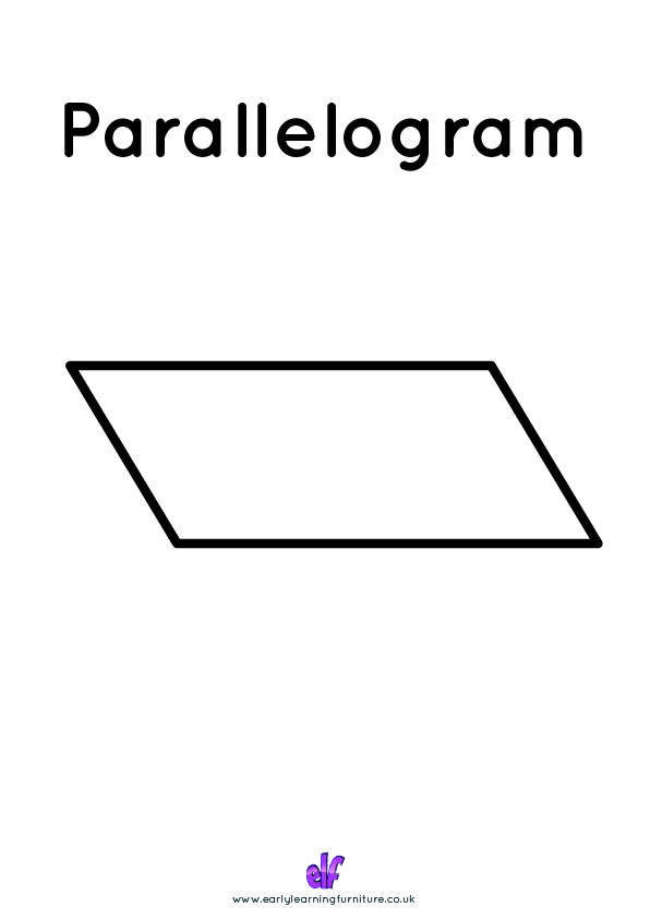 Free Teaching Resources Shapes- Parallelogram