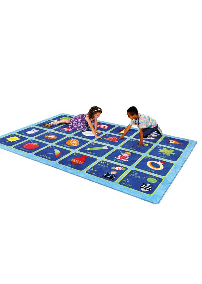 Alphabet Mat Rectangular Classroom Carpet