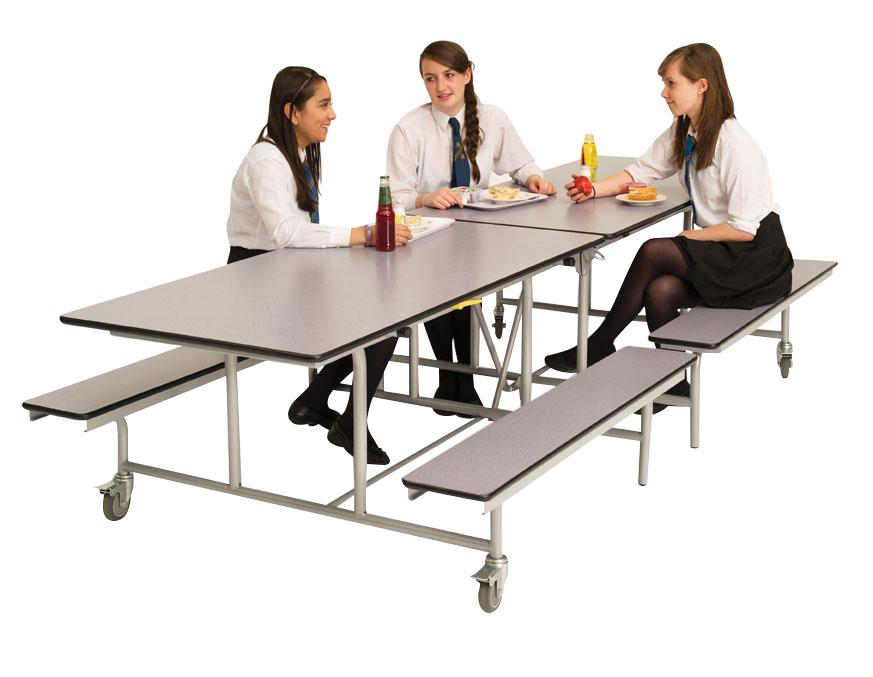 Rectangular Mobile Folding Bench