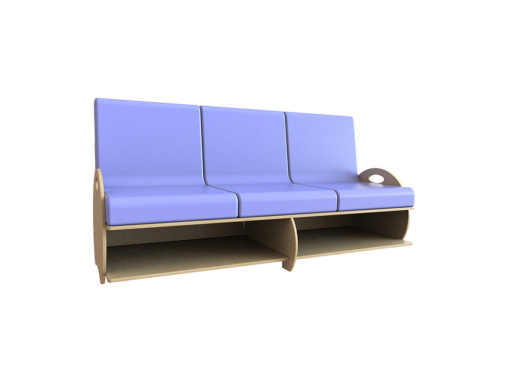 Kids Sofa Soft Seating 3 Seat
