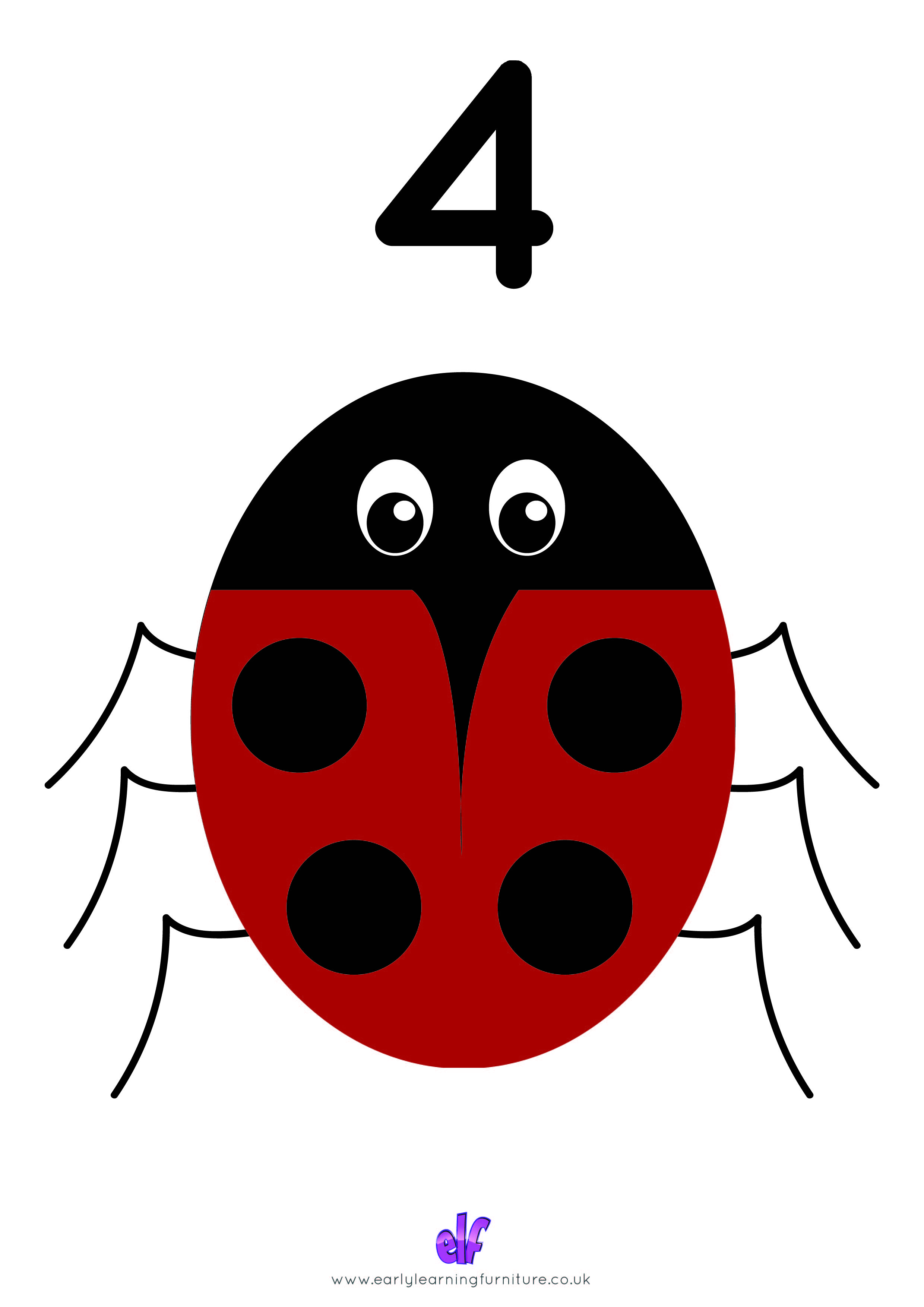 Free Teaching Resources Numbers- Bug Number 4